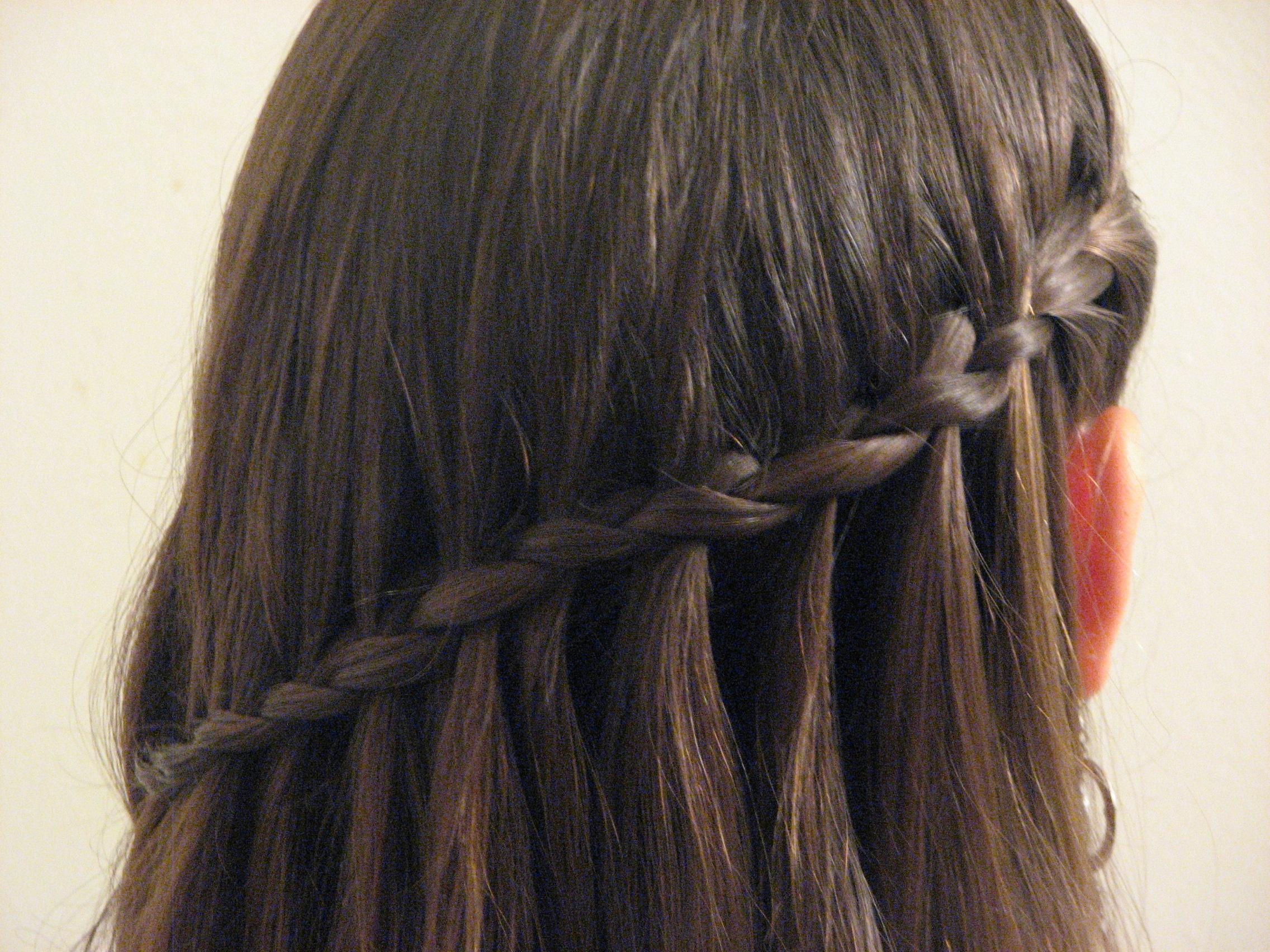 Hair Tutorial: Waterfall Braiding