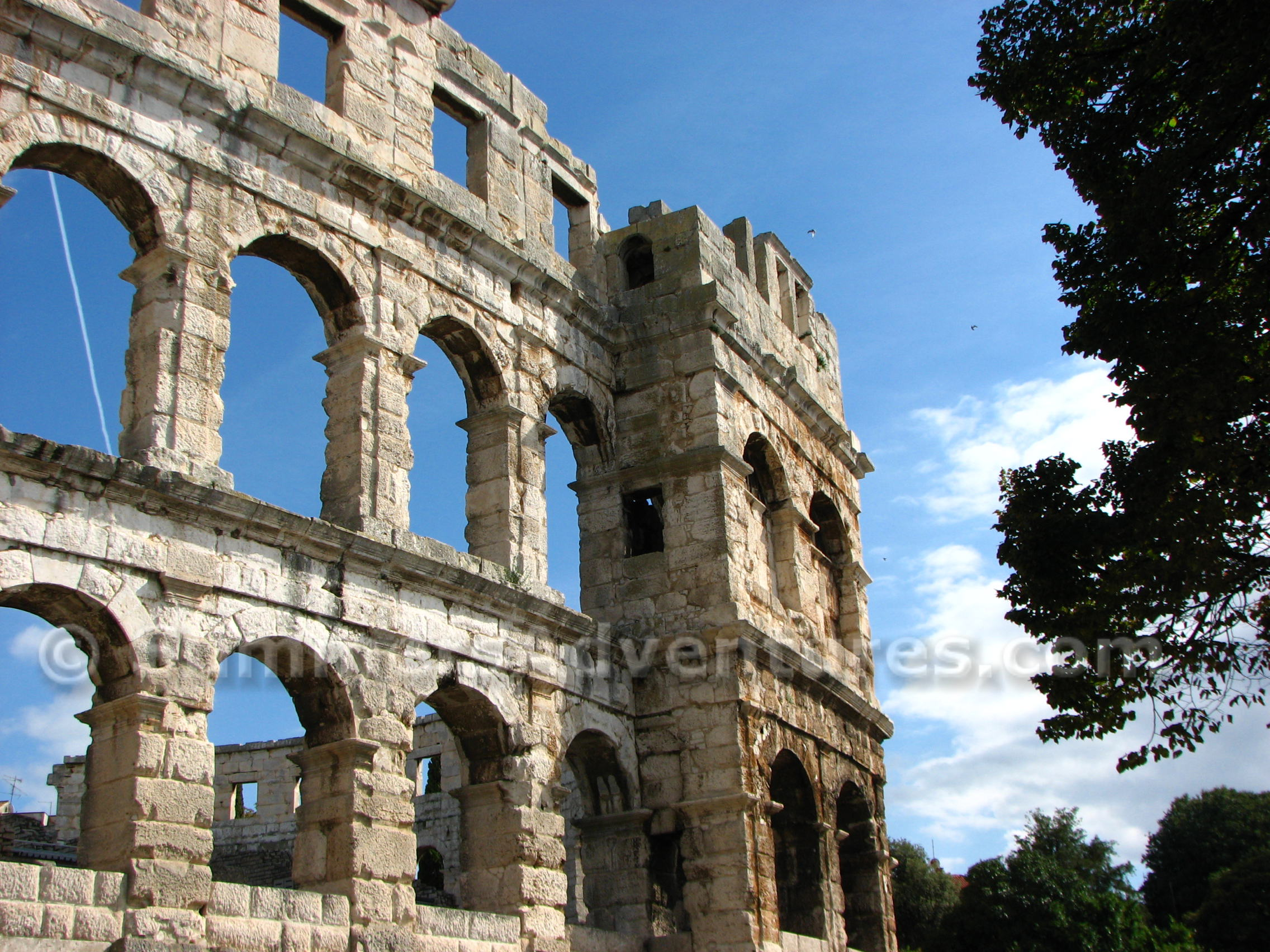 The Colosseum Of Pula Croatia