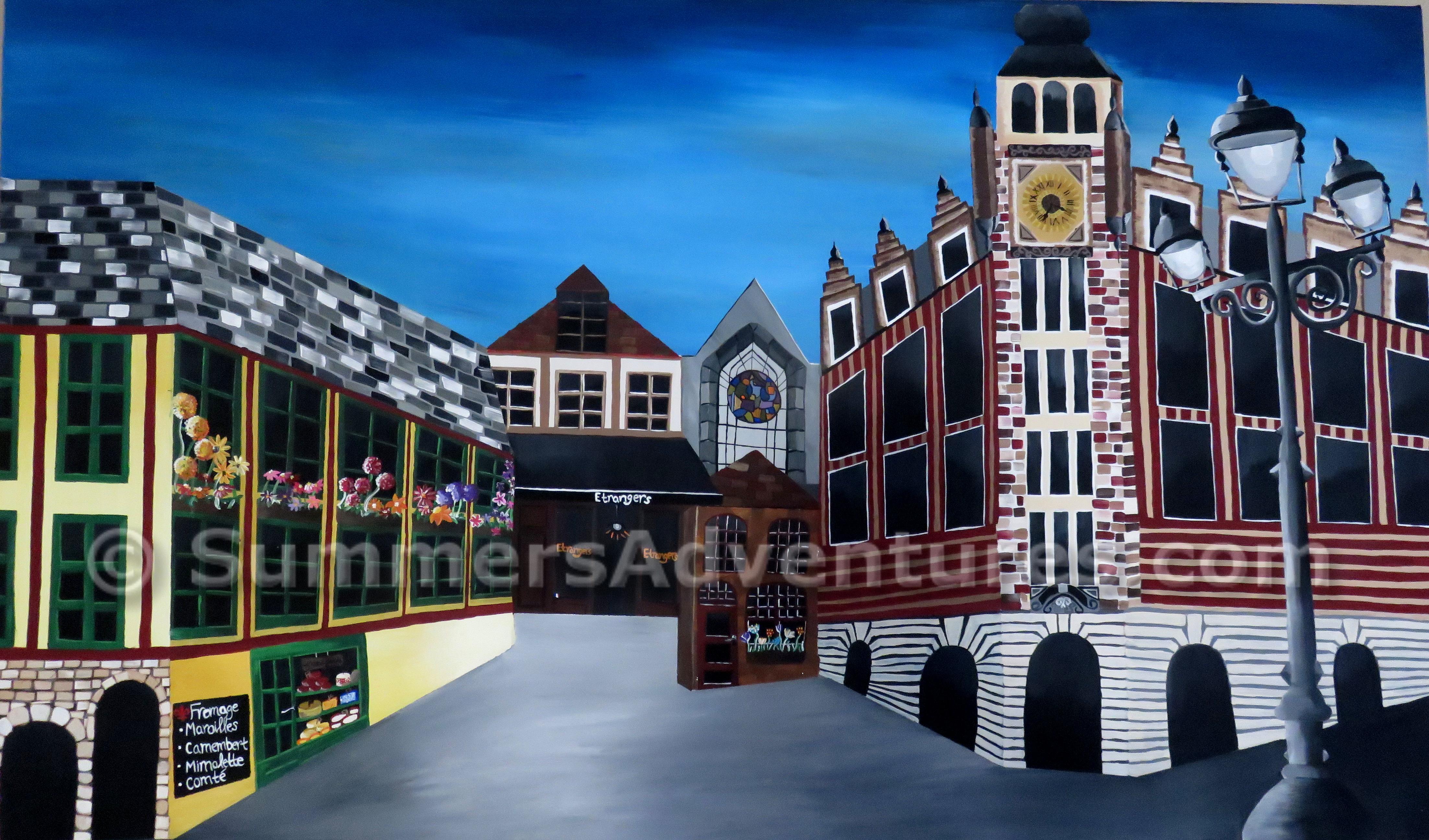 Painting: Chez Les Ch'ti